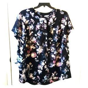 Simply Vera Vera Wang pastel floral blouse